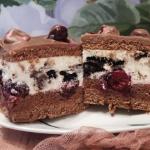Ciasto z wiśniami i Oreo