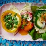 Jajka sadzone w papryce...