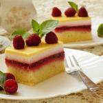 Ciasto malinowe z polewa ...