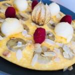 Omlet twarogowy z bananem...