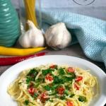 Spaghetti z oliwą,...