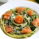 Spaghetti z łososiem...