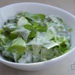 Salata zielona z mieta