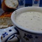 Zupa serowa z czosnkową...