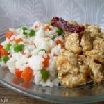 Kurczak w sezamie i ryż...