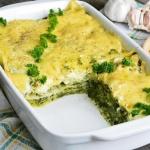 Szpinakowa lasagne
