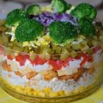 Ryzowa, kolorowa salatka ...