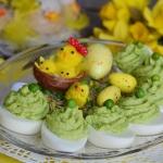 Jajka faszerowane zielony...