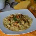 Spaghetti z sosem kurkowy...