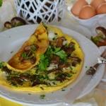 Omlet z lesnymi grzybami ...