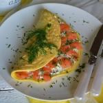 Omlet z serkiem i wedzony...