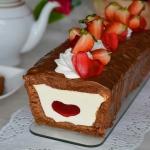 Walentynkowe ciasto z ser...