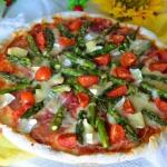 Pizza ze szparagami,...