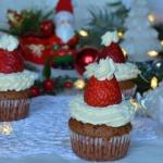 Muffinki czapki Mikołaja