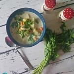 Lekka zupa z bobem