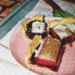Ciasto z rabarbarem i por...