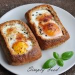 Bulki zapiekane z jajkiem...