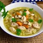 Zupa kurczakowa z lanymi...