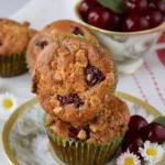 Muffinki z wiśniami i...