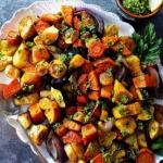Pieczone warzywa korzenio...