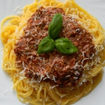Spaghetti bolognese...