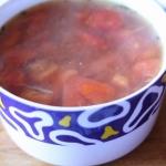 Zupa z mięsem mielonym