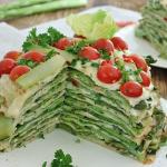 Tort szparagowo ogorkowy