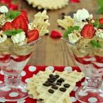 Kawowo truskawkowy deser