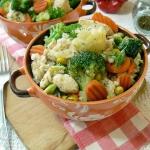 Szybka kasza z warzywami