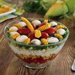 Salata z kolbami kukurydz...