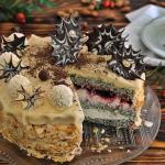 Tort makowo marcepanowy