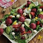 Salatka z pchali kielkami...