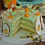 Wielkanocny tort pod moty...