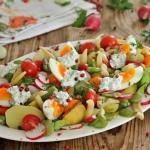 Salatka z bobem i fasolka...