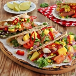 Tacos z lososiem i krewet...