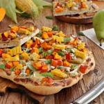Pizza z gruszką dynią...