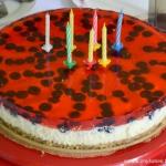 Serowo - orzechowy tort...