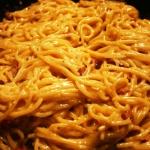 Spaghetti carbonara.