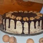 Tort orzechowo – kawowy