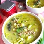 Zupa szparagowo-porowa z...