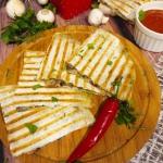Quesadilla z pieczarkami