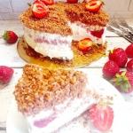 Tort lodowy z owocami i...