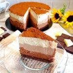Ciasto trzy czekolady...