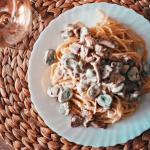 Spaghetti a la carbonara...