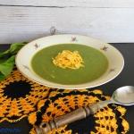 Zupa krem ze szpinaku z s...