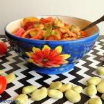 Salatka z bobu z ziemniak...