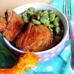 Kurczak w sosie z bobem
