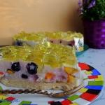 Maslankowy tort z owocami...