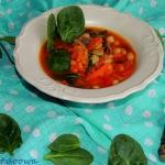 Zupa pomidorowa z fasola,...