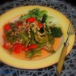 Kasza peczak z warzywami